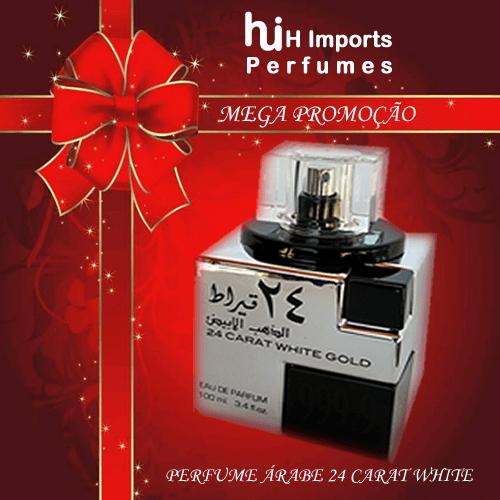 Perfume Árabe Unissex 24 Carat White Gold 100 ml - Lattafa