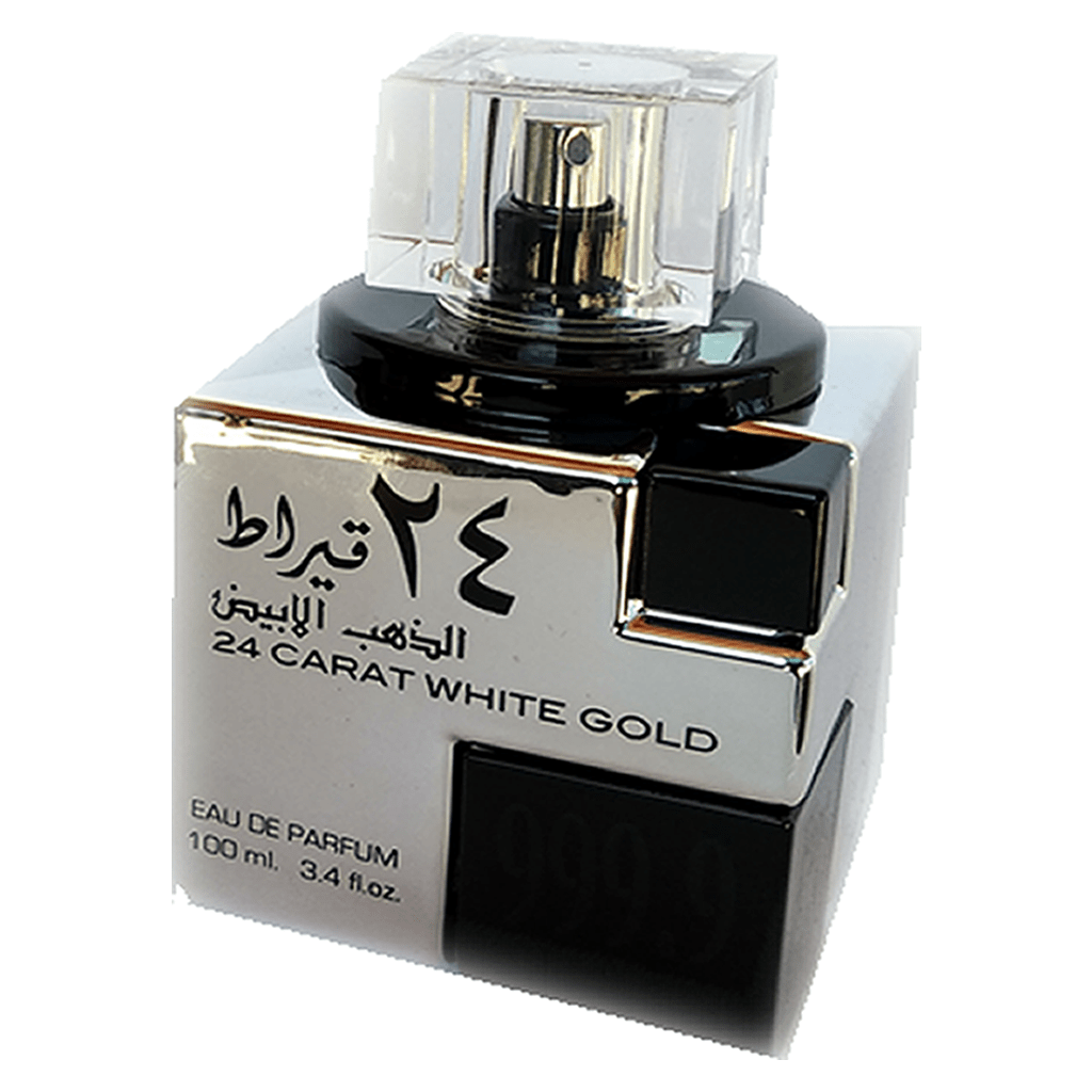 Perfume Árabe Unissex 24 Carat White Gold 100 ml - Lattafa